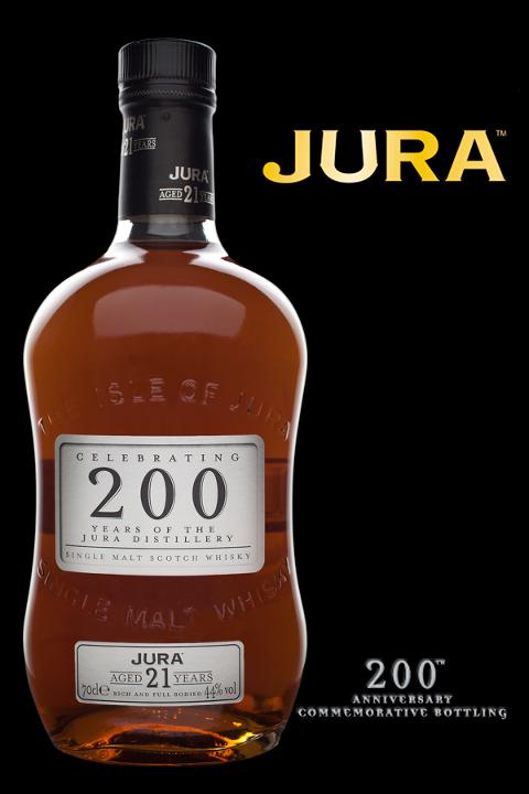 photo professionnelle d'une bouteille de whisky