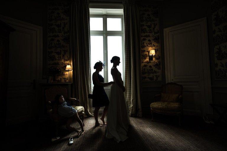 derniers ajustements robe de mariage