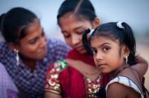 portrait petites filles en Inde du sud