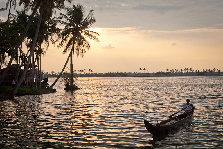 Photo des backwaters du Kerala à Allepey