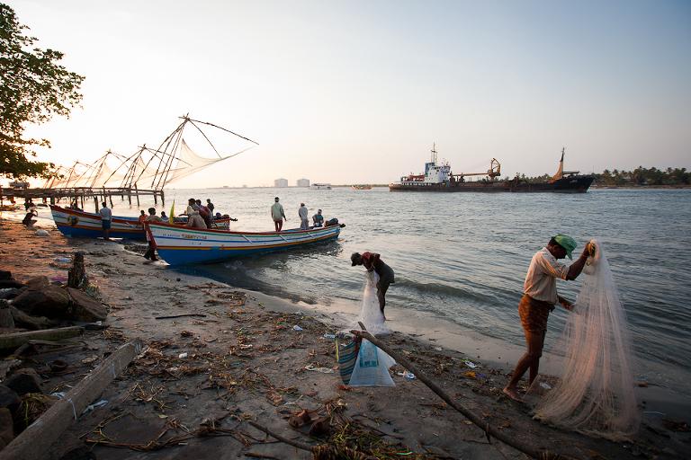 Pêcheurs indiens à Cochin