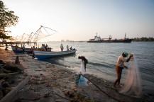 Pêcheurs à Cochin