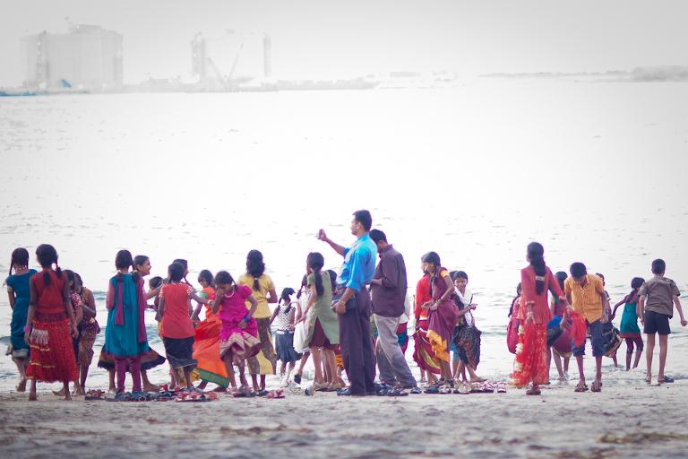 Groupe d'écoliers indiens à Cochin