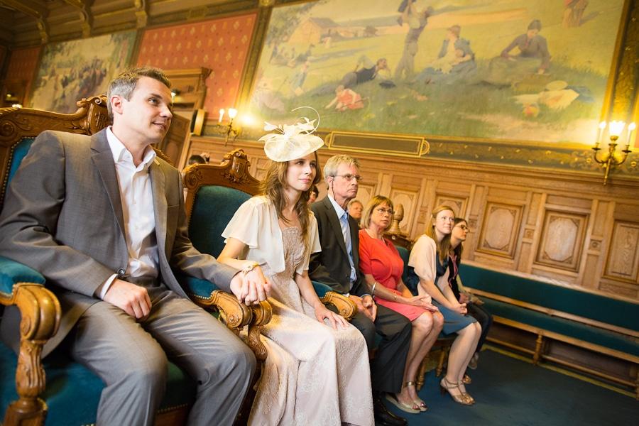 Photo de mariage à la mairie du XIVe arrondissement
