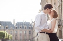 Photo engagement place des Vosges