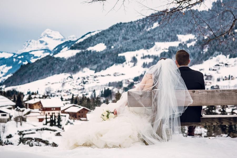 photo de couple à Megève