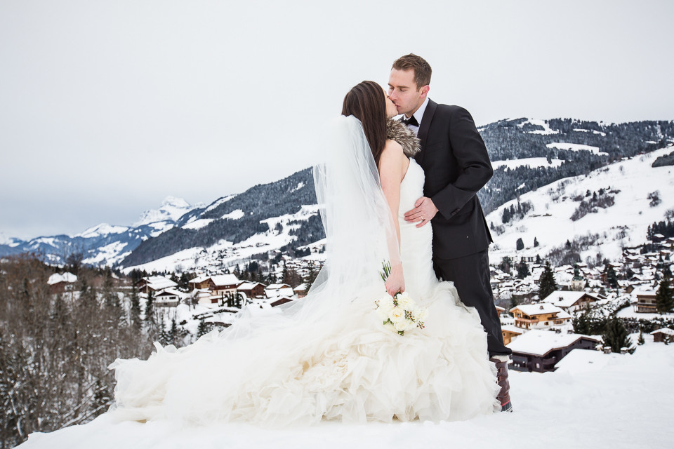 Une jolie séance photos de mariage à Megève